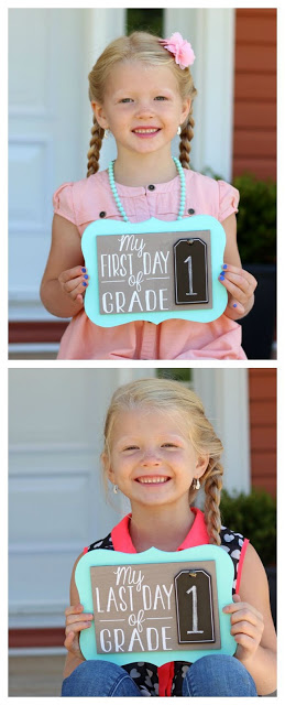 First Day & Last Day Wooden Board for 1st Grade