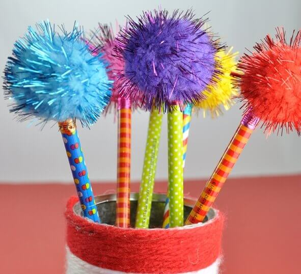 Truffula Tree Pencil Cup DR SEUSS CRAFT Activities FOR KIDS