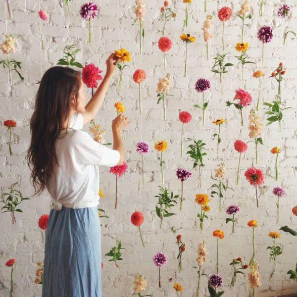 Wall Of Flower