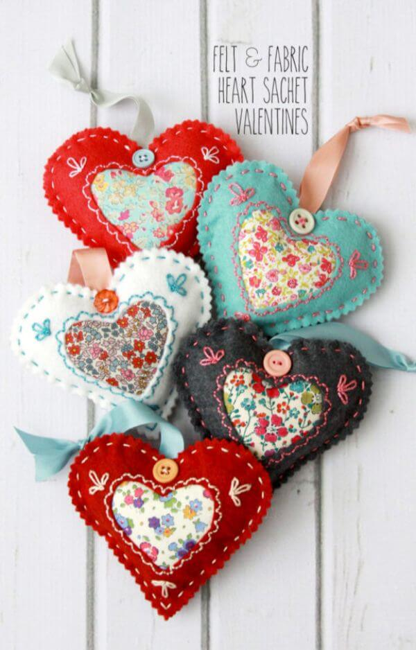 Valentines Day Gift Upcycle Fabric Scraps