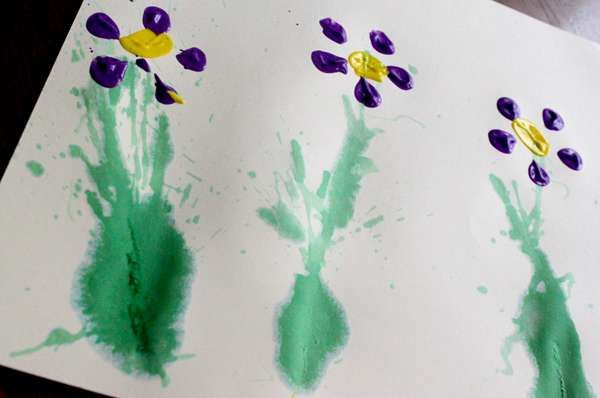 Spring Painting idea for kids: Nature's time to play with colors