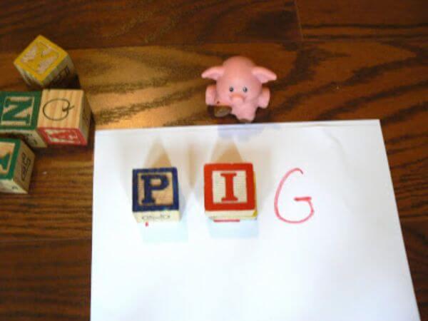 Learning Words Wooden Block Activities