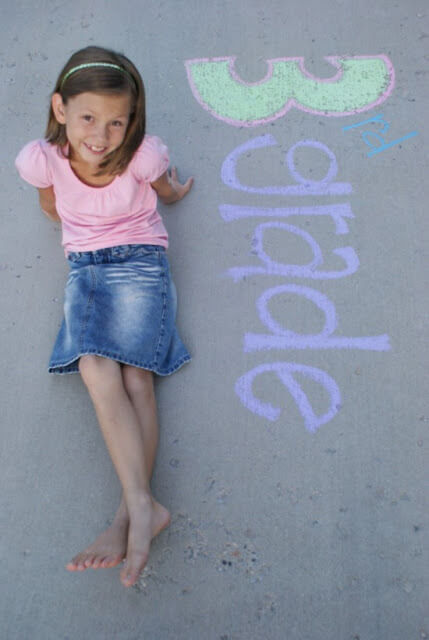 Chalk Drawing Photo Idea for 3rd Grade