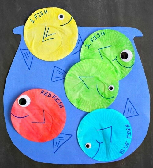 One Fish Two Fish Red Fish Blue Fish Activity For Kids DR SEUSS CRAFT Activities FOR KIDS