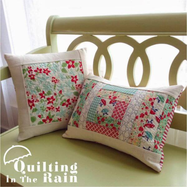 Pillows - A cover to flaunt Upcycle Fabric Scraps