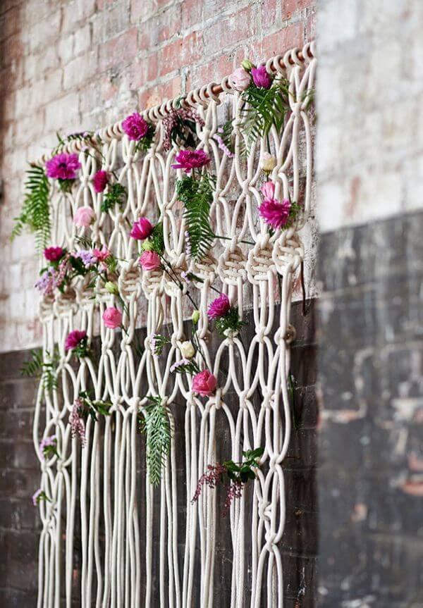 Backdrop - Unique Floral Wedding Decor Ideas for Outdoor & Indoor