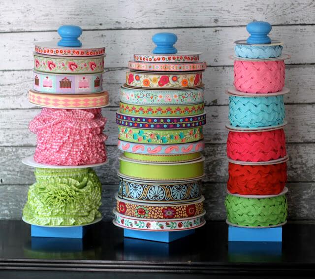 Layered Ribbon Jars