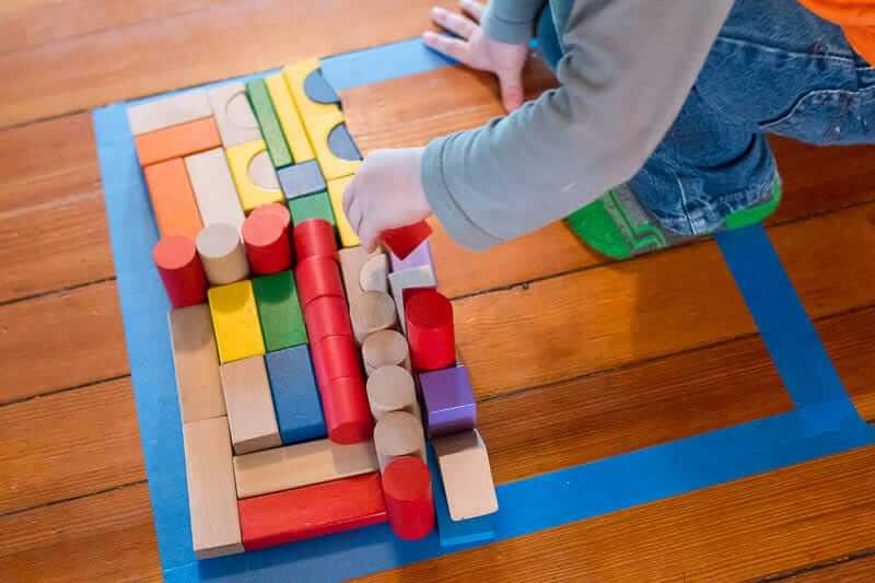 Creating Patterns With Wooden Block Activities