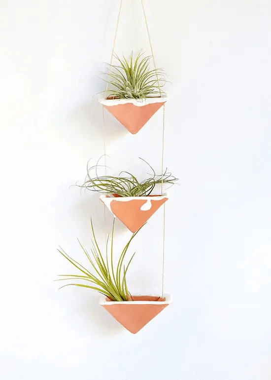 Clay Hanging Air Plant Holders