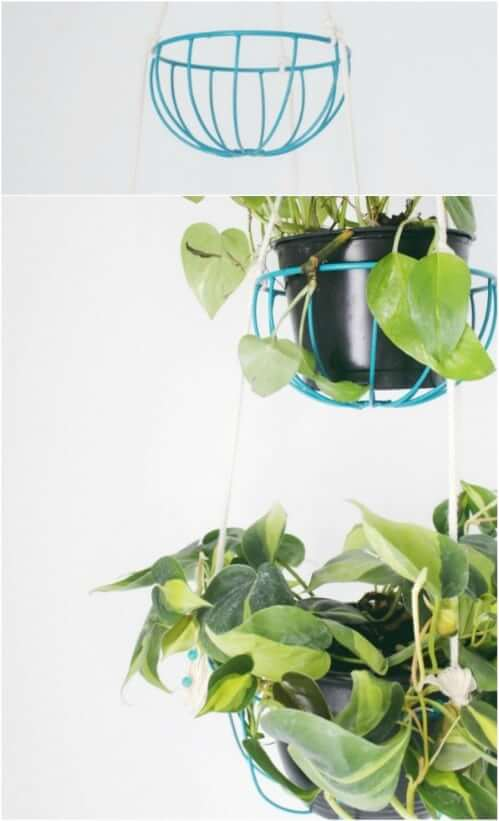 DIY Hanging Wire Planter