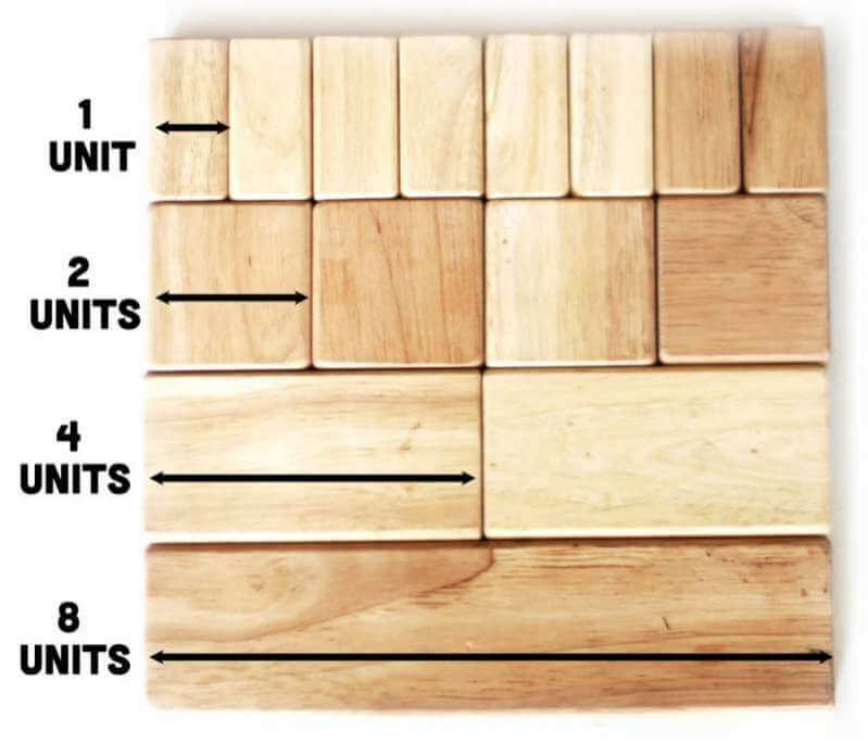 Learning Units With Wooden Block Activities