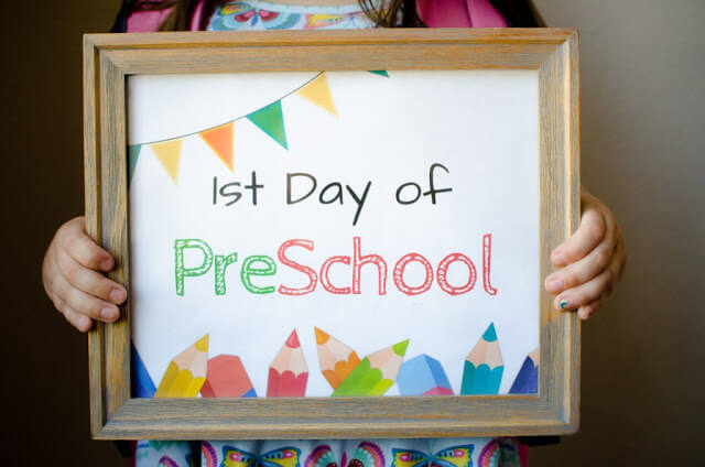 Awesome Photo Frame - First Day of Preschool