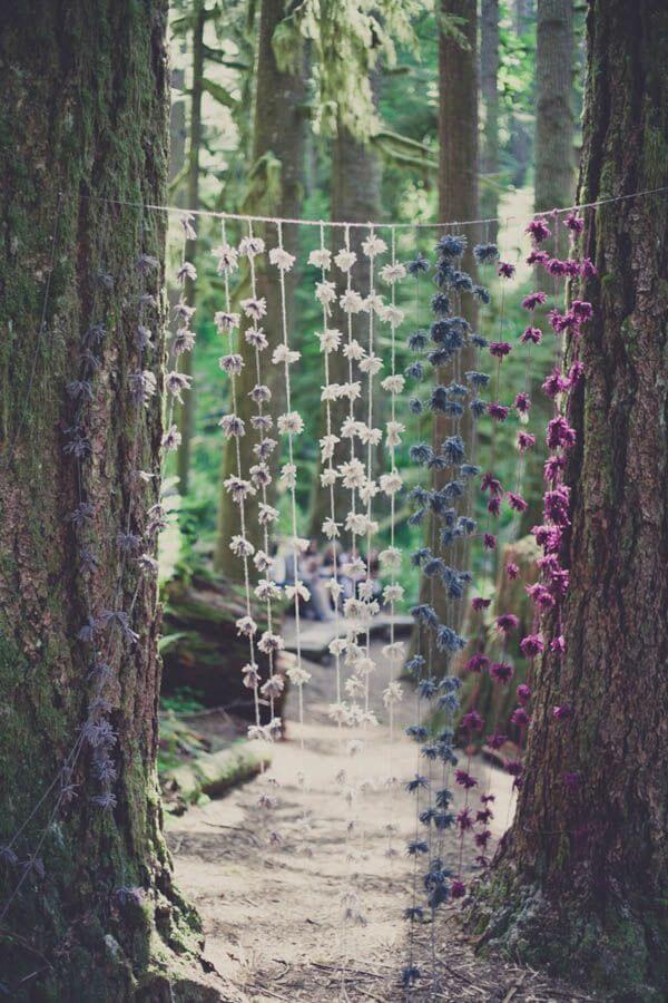 Let Them Hang Unique Floral Wedding Decor Ideas for Outdoor