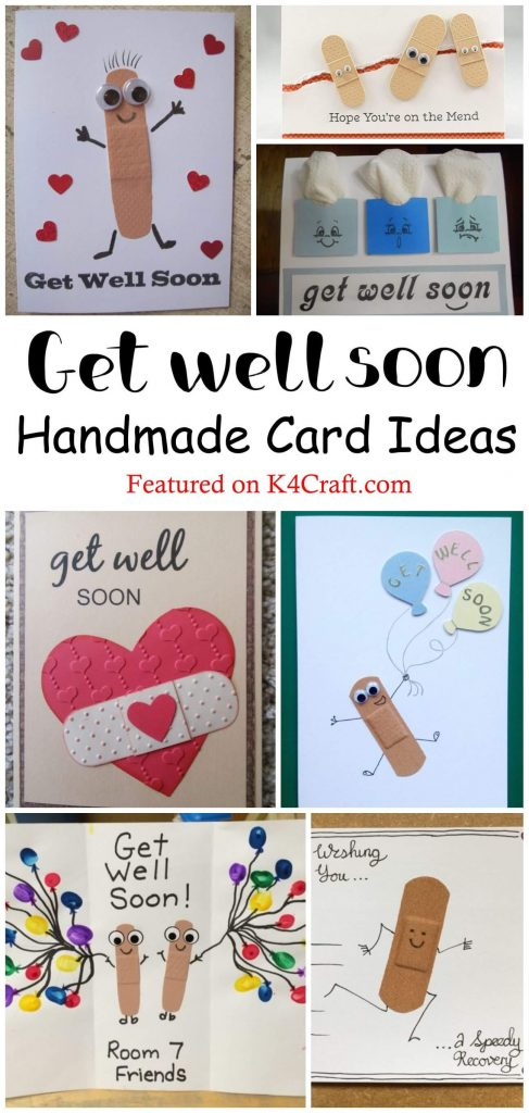 "Beautiful DIY Get Well Soon Card Ideas Beautiful DIY ""Get Well Soon"" Card Ideas"