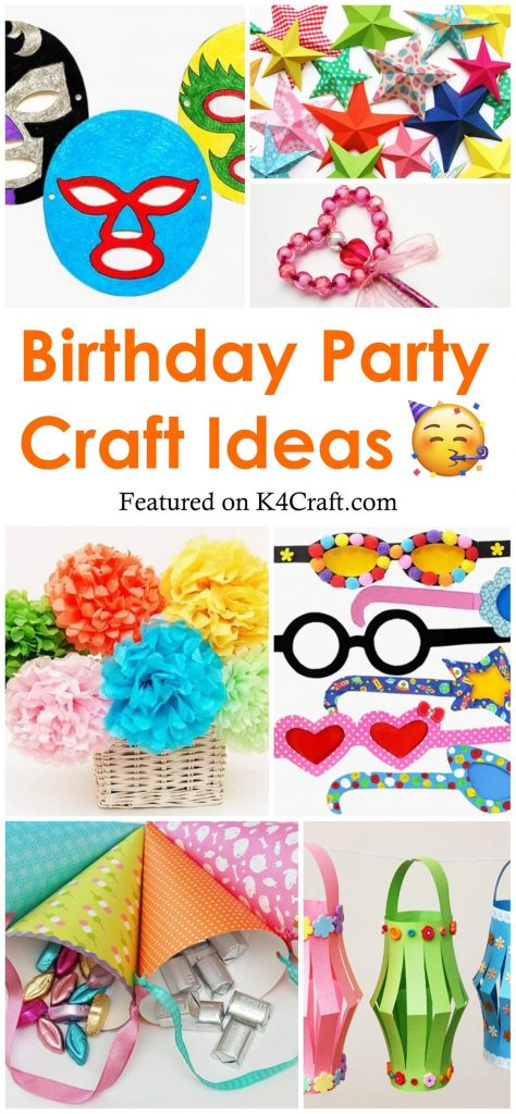 Birthday Party Craft Ideas for kids and adults Birthday Party Craft Ideas