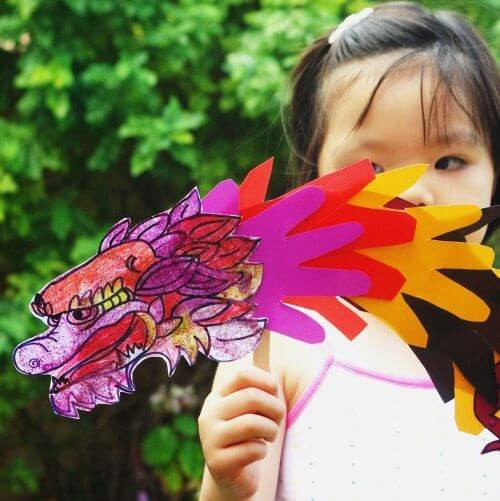 Rainbow Dragon Chinese New Year Crafts and Activities for Kids
