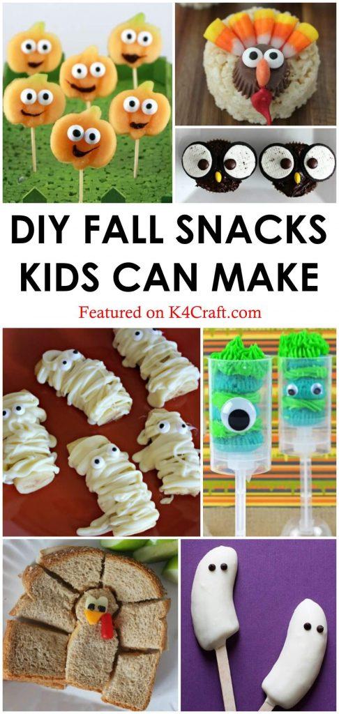 DIY Snacks for Fall DIY Fall Snacks for Kids