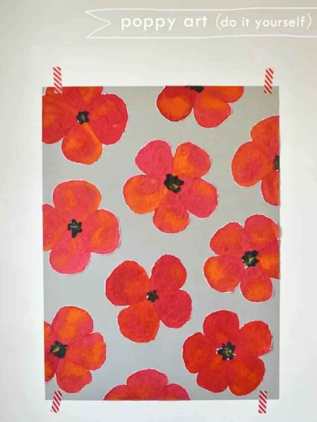 DIY Poppy Art