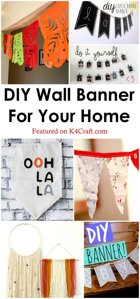 DIY wall banner for your home DIY wall banner for your home