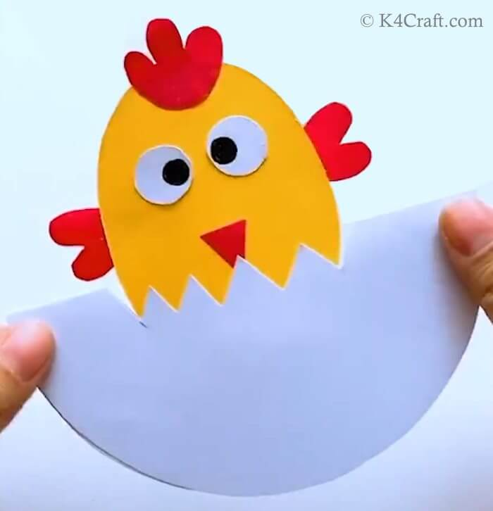 DIY Cartoon Hen With Egg