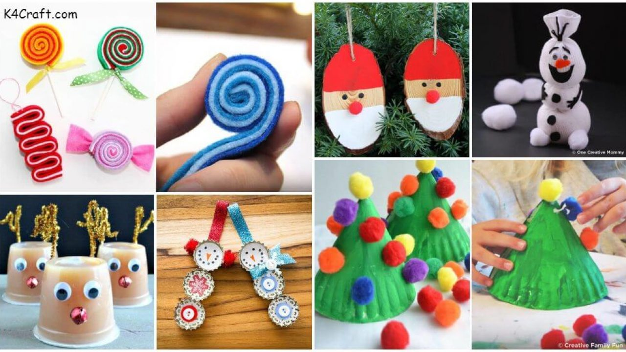 37 Easy Christmas Craft Ideas For Kids K4 Craft