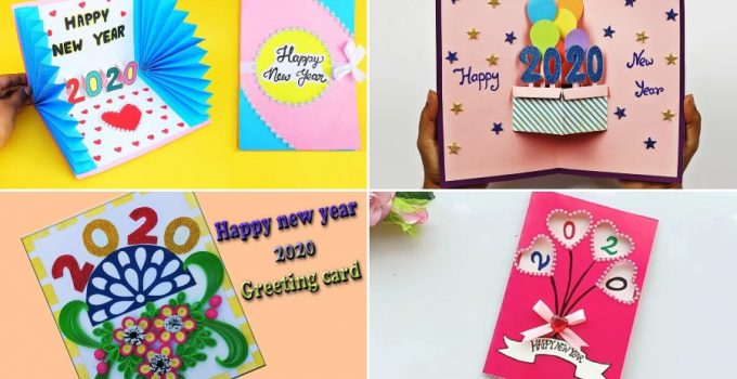 new year 2020 easy diy greeting card ideas for kids • k4
