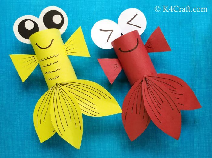 Super Cute Paper Fish Activity Red Day Crafts & Activities for Preschool Kids