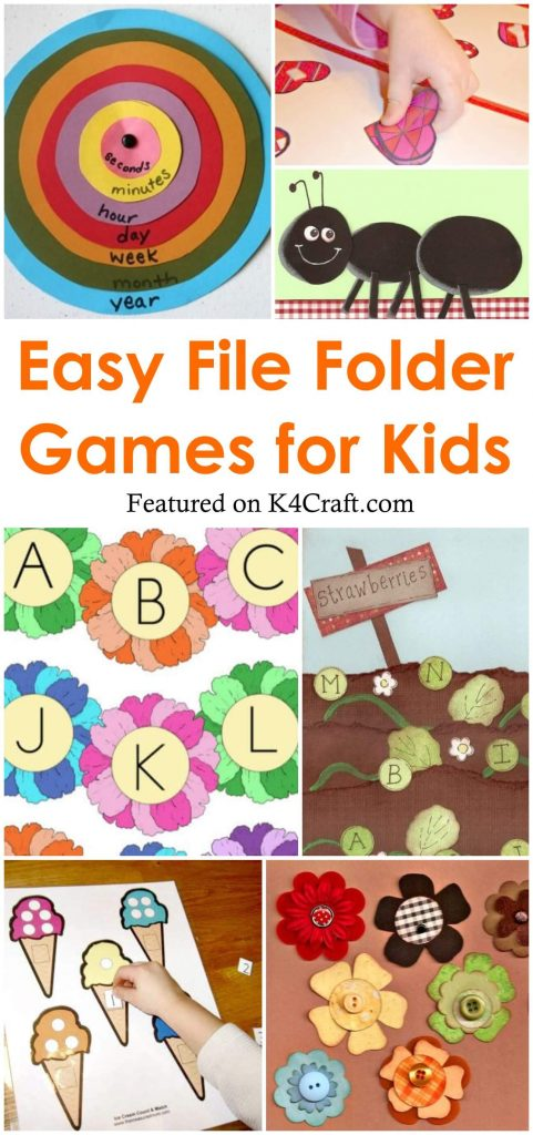 Easy to Make File Folder Games for Kids