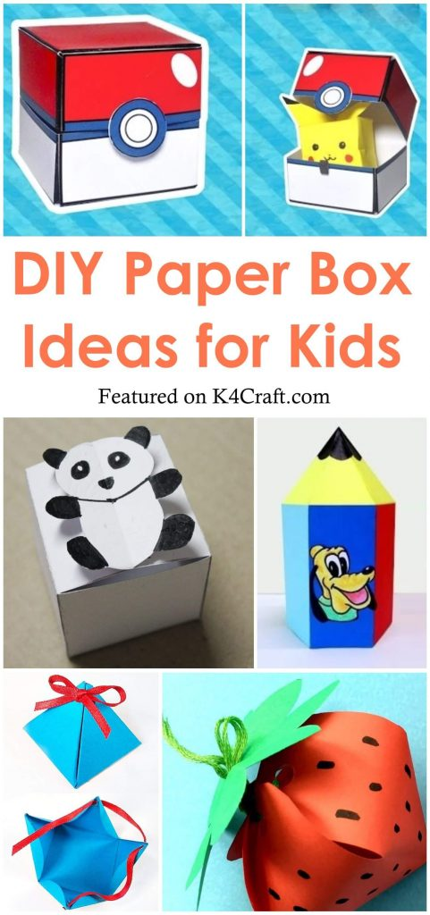 How To Make Cute Paper boxes for Kids
