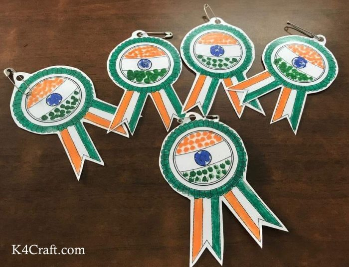 Easy Republic Day Flag Badges