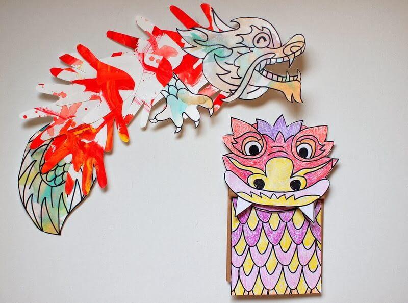 Dragon that blows colors