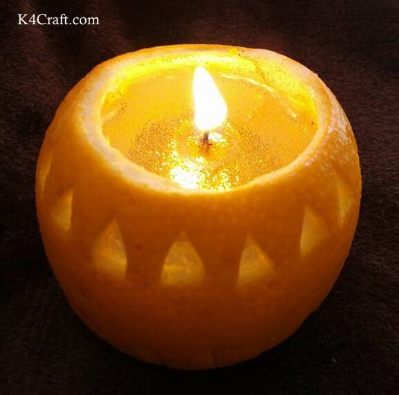 Orange Earthen Lamps