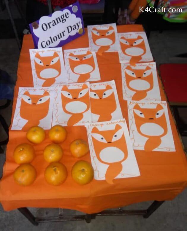 Easy Orange Color Day Fruit Craft