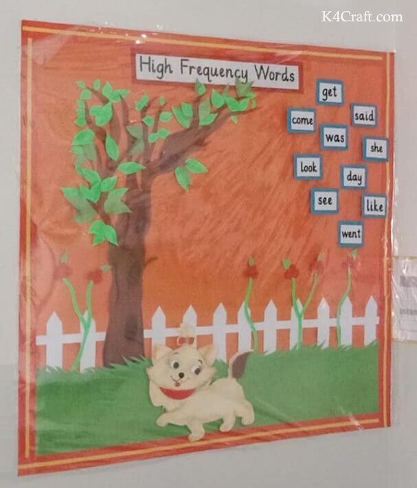 HIGH FREQUENCY WORDS WITH ORANGE DAY