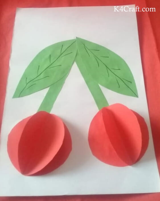 Red Fruit Craft For Kindergarten