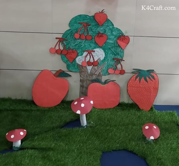 Simple Red Fruit Tree Craft