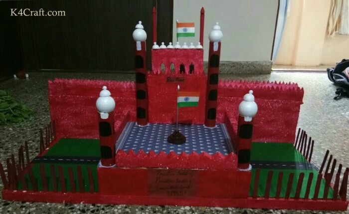 Historic Red Fort Model Red Day Crafts & Activities for Preschool Kids