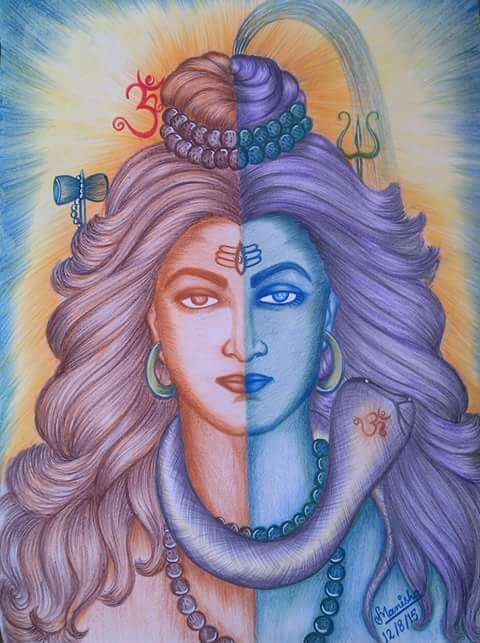 Beautiful Mahadev painting