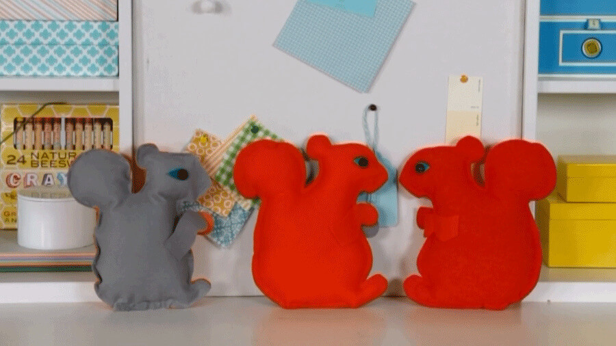Colorful And Bright Squirrel Crafts