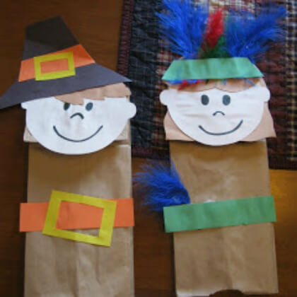 Brown paper puppet making crafts DIY Puppet Making Crafts Kids Will Love