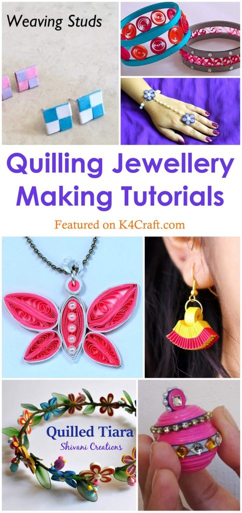 Unconventional Quilling Jewellery Making Tutorials