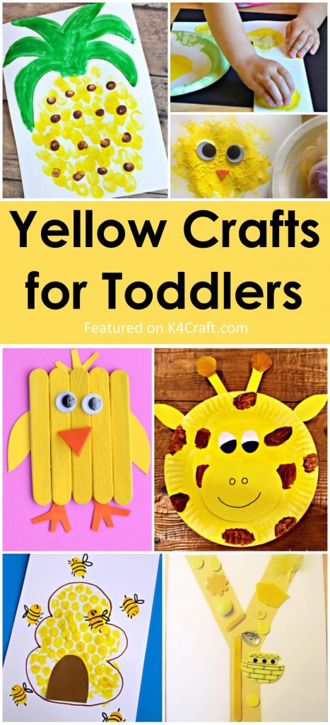 Beautiful and Bright yellow crafts for Toddlers Yellow Crafts for Toddlers