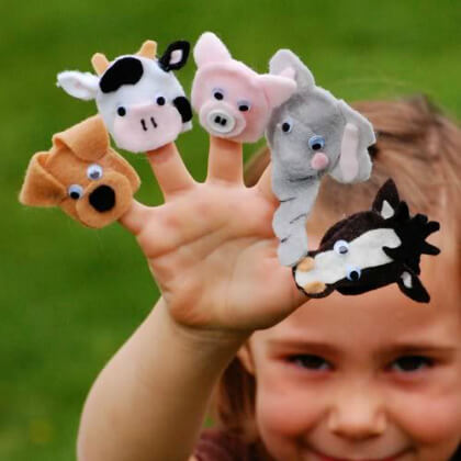 Animals finger puppet making crafts DIY Puppet Making Crafts Kids Will Love