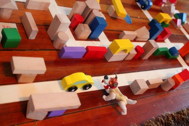 Maze Wooden Block Activities