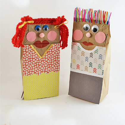 Brown bag puppet making crafts DIY Puppet Making Crafts Kids Will Love