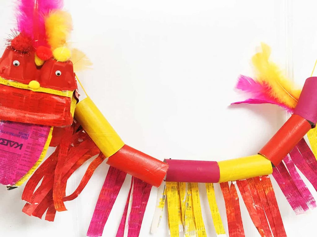 Feather bloom Chinese New Year Crafts and Activities for Kids
