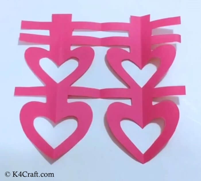 Simple Heart Shape Craft Red Day Crafts & Activities for Preschool Kids