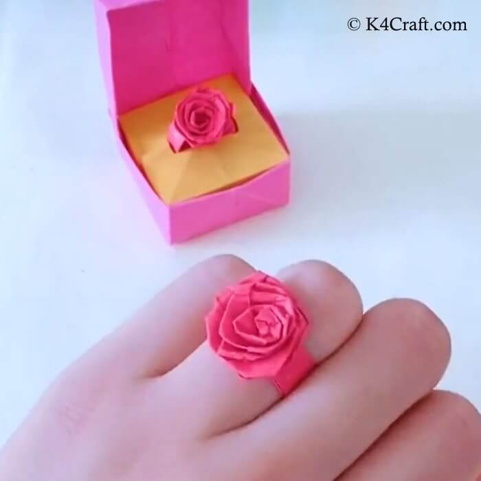 Classy Flower Ring Red Day Project
