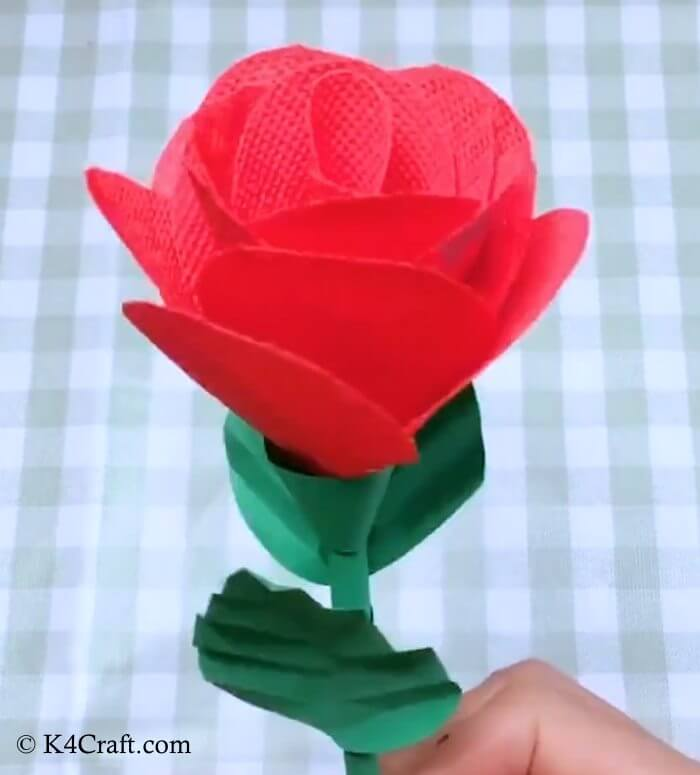 Adorable Red Rose Craft