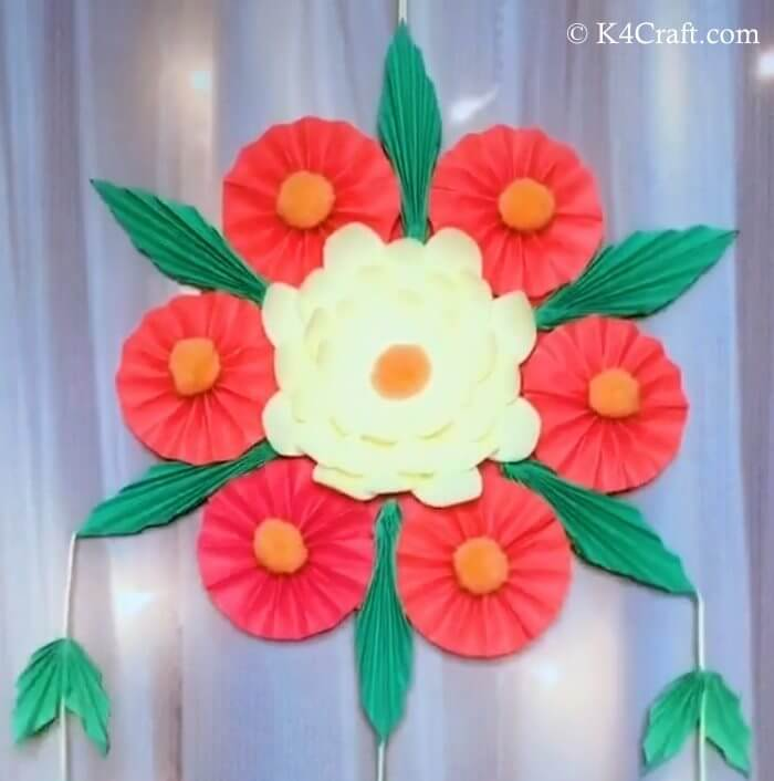 Bunch Of Flowers Craft Red Day Crafts & Activities for Preschool Kids